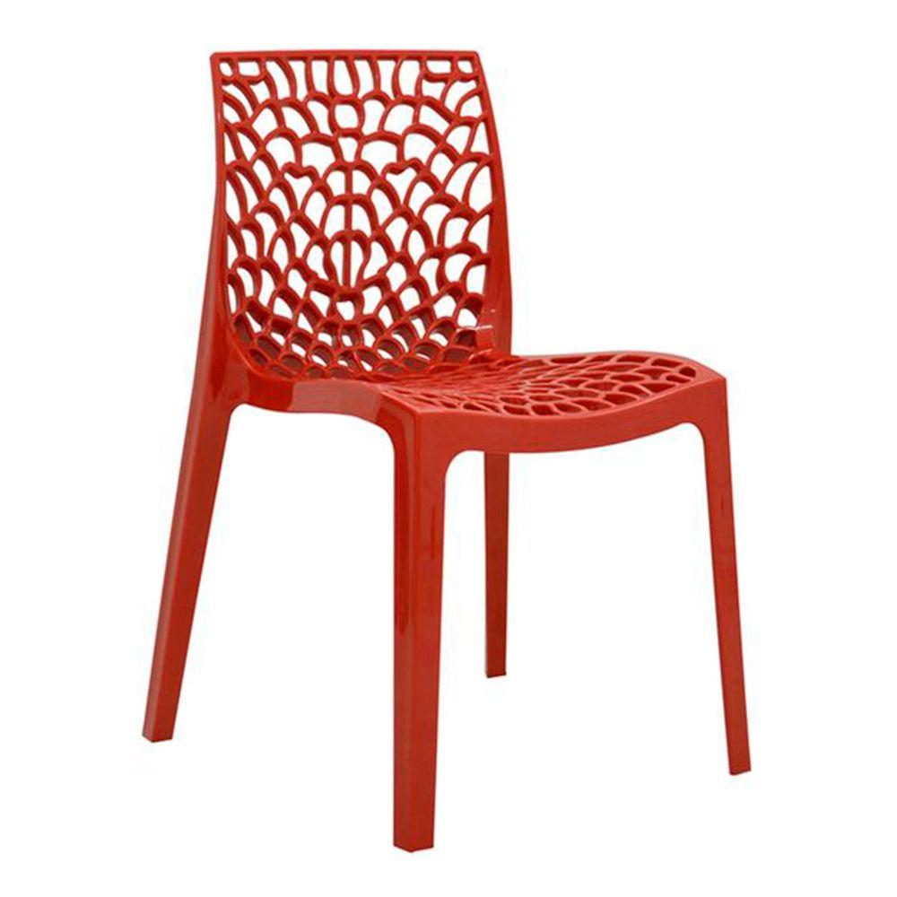 Cadeira Gruvyer Sala de Jantar Vermelha - D'Rossi