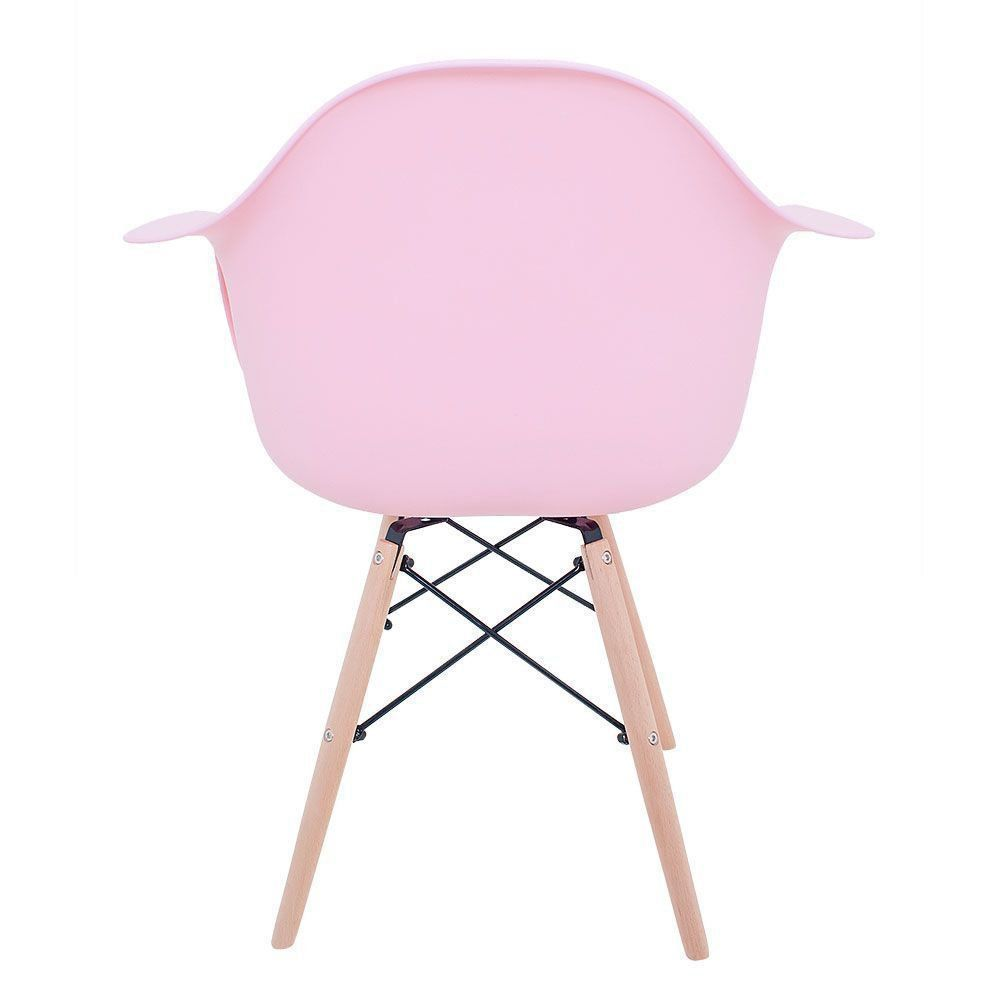 Cadeira Melbourne Eiffel Charles Eames Base Madeira - Rosa - D'Rossi