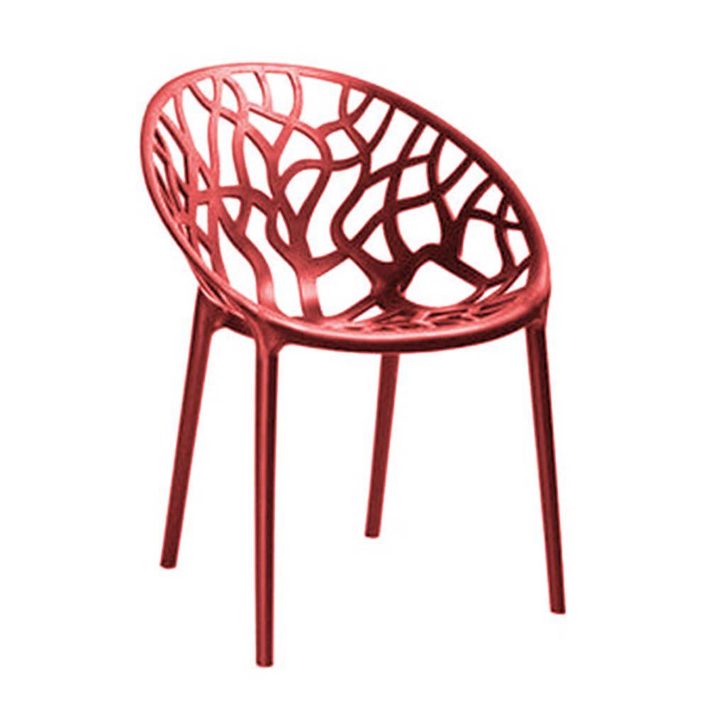 Cadeira Nairobi Sala de Jantar Vermelho - D'Rossi
