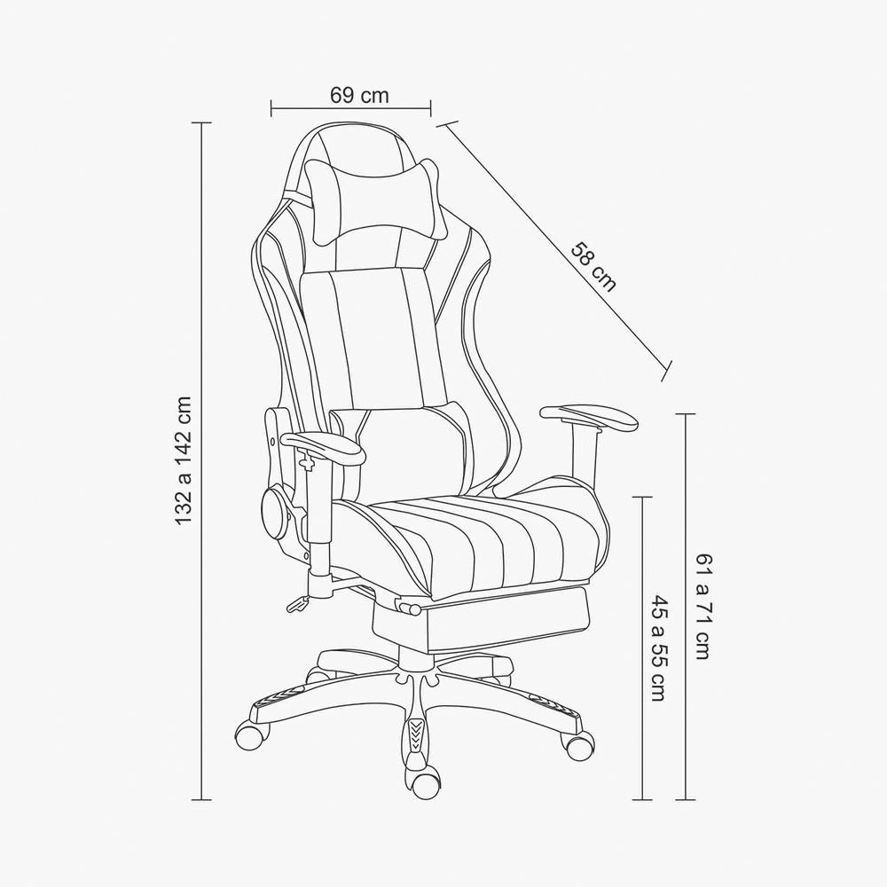 Cadeira Office Pro Gamer X D'Rossi