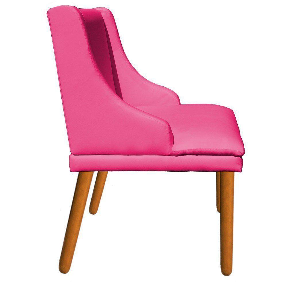Cadeira de Jantar Liz Corino Pink Pés Palito Castanho D'Rossi