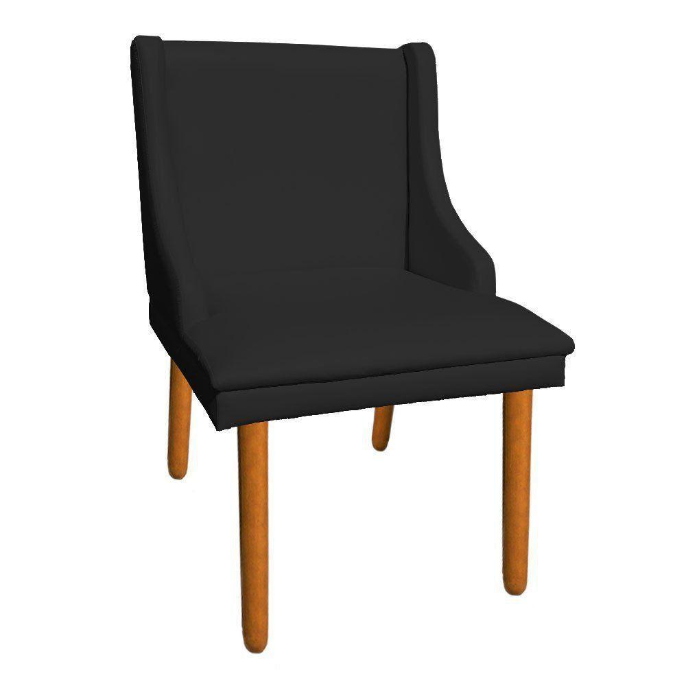 Cadeira de Jantar Liz Corino Preto Pés Palito Castanho D'Rossi