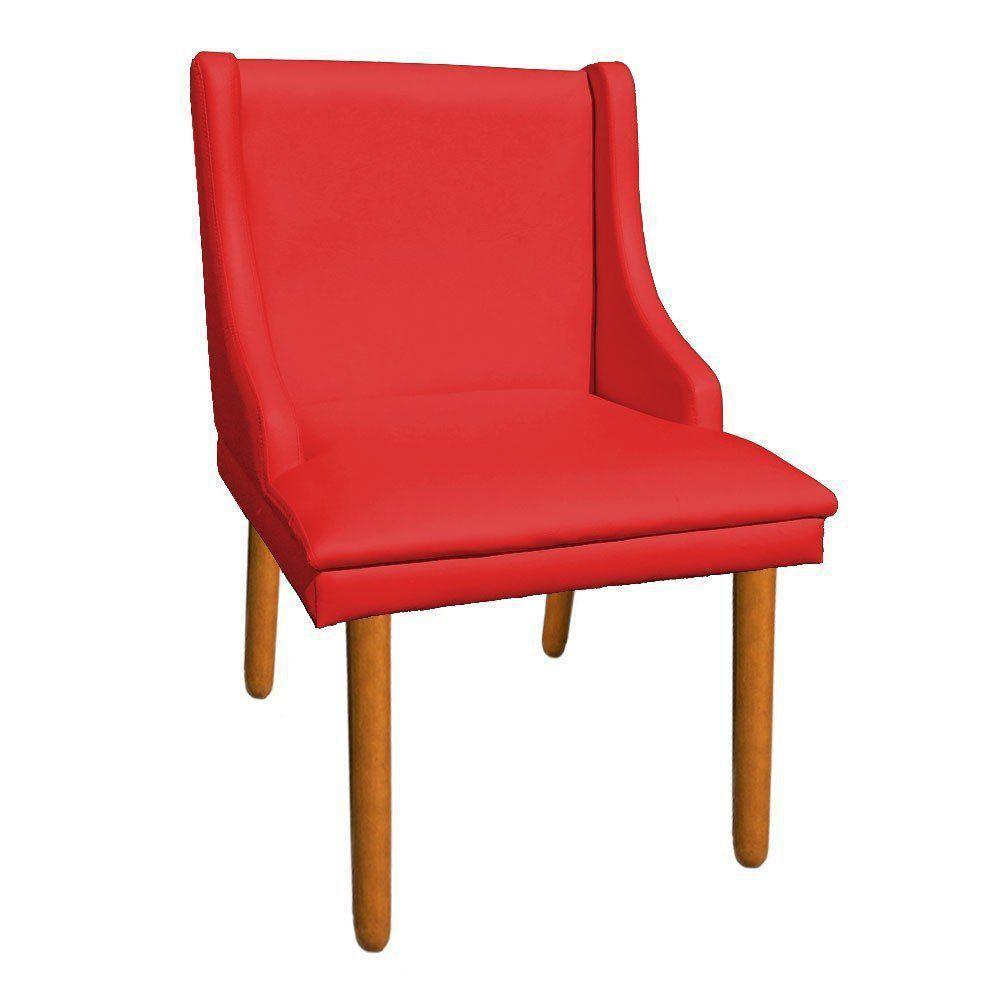 Cadeira de Jantar Liz Corino Vermelho Pés Palito Castanho D'Rossi