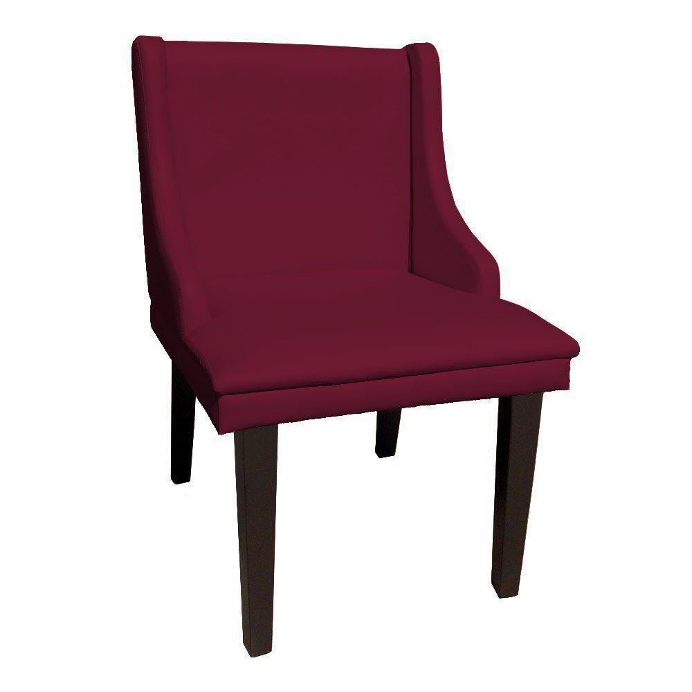 Cadeira de Jantar Liz Corino Vinho Pés Palito Castanho D'Rossi