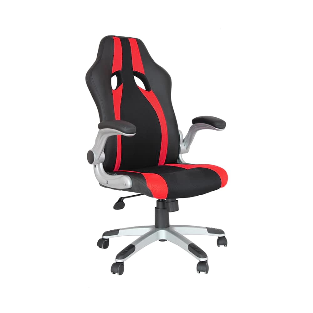 Cadeira Office Speed Preto e Vermelho D'Rossi