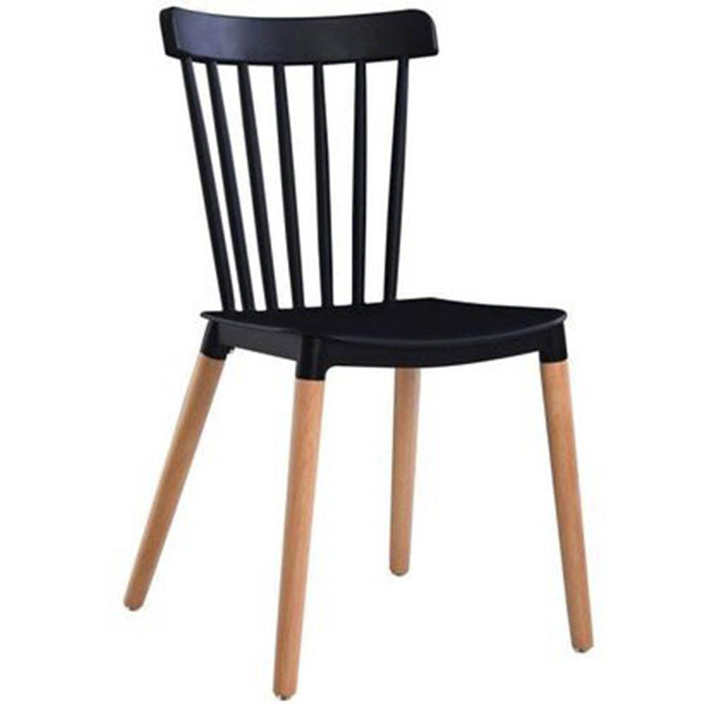 Cadeira Tóquio Sala de Jantar Preta D'Rossi