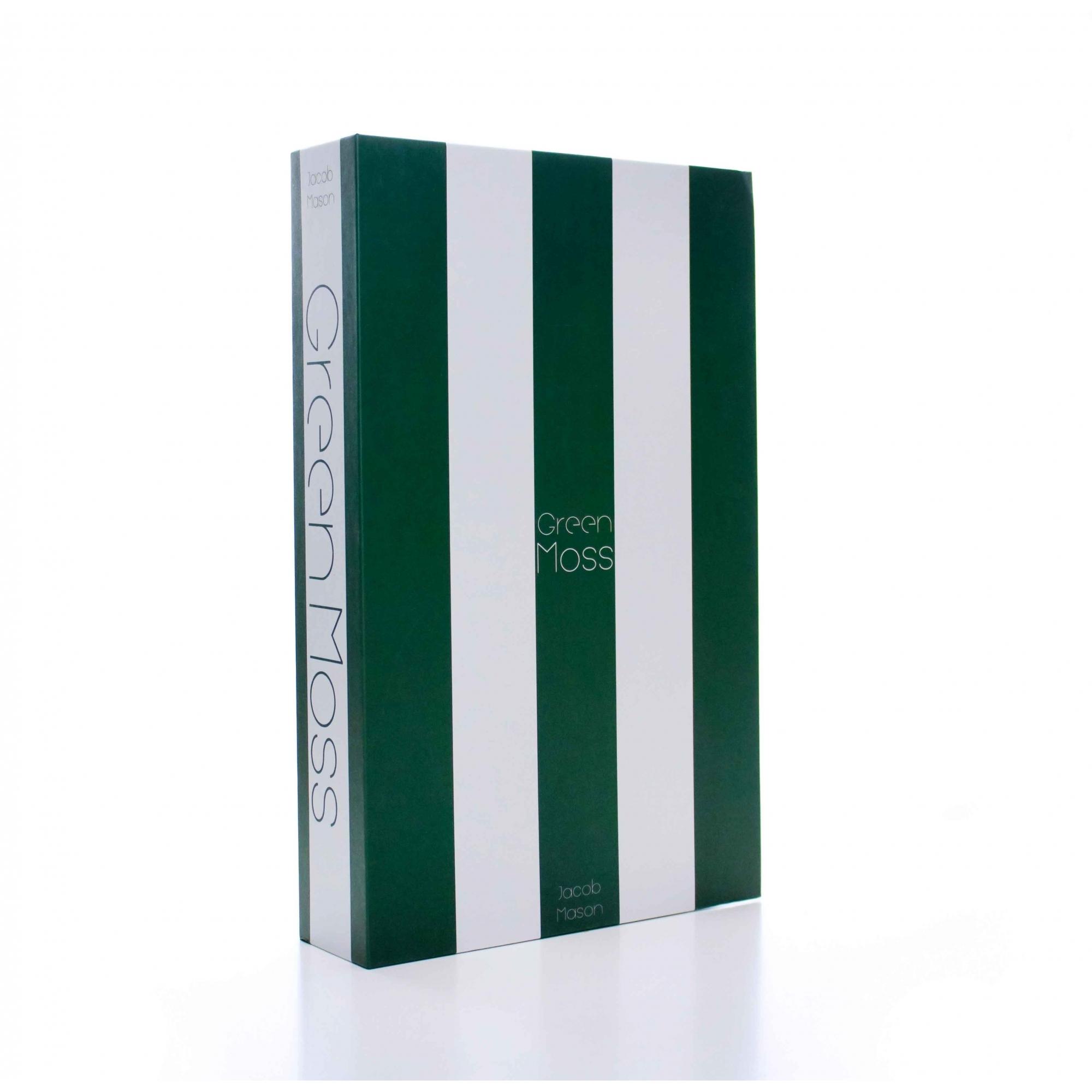 Caixa Livro Decorativa Listra Verde e Branco