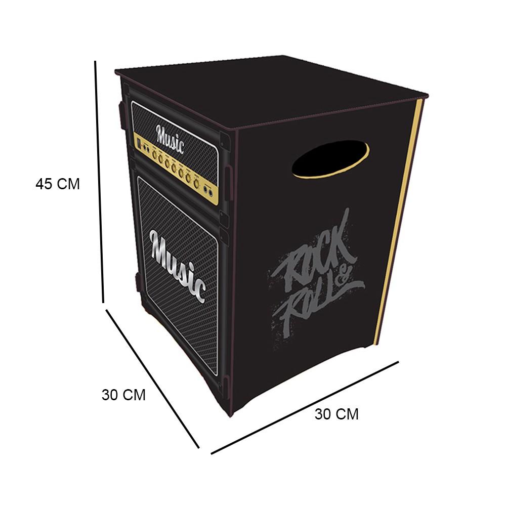 Caixa Organizadora Tema Caixa de Som 45x30 cm D'Rossi