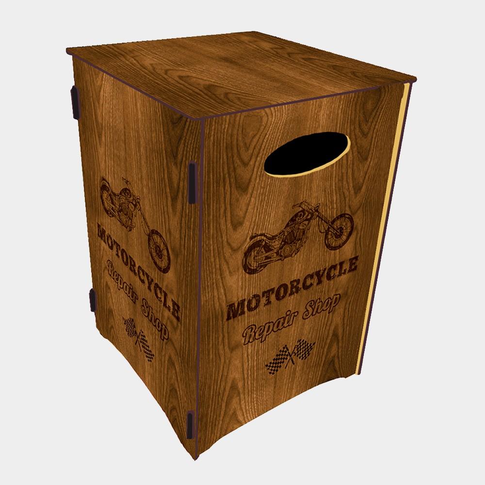 Caixa Organizadora Tema Moto 45x30 cm - D'Rossi