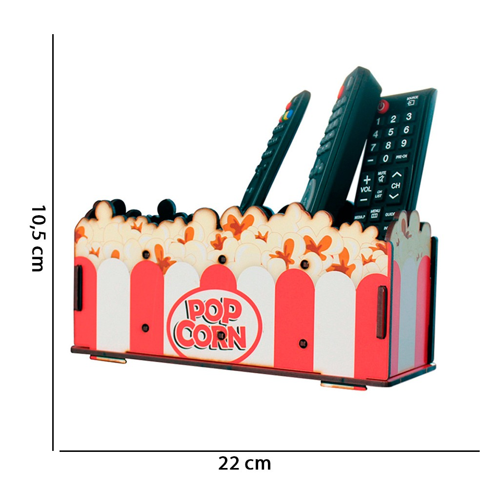 Porta Controle Remoto Pop Corn D'Rossi