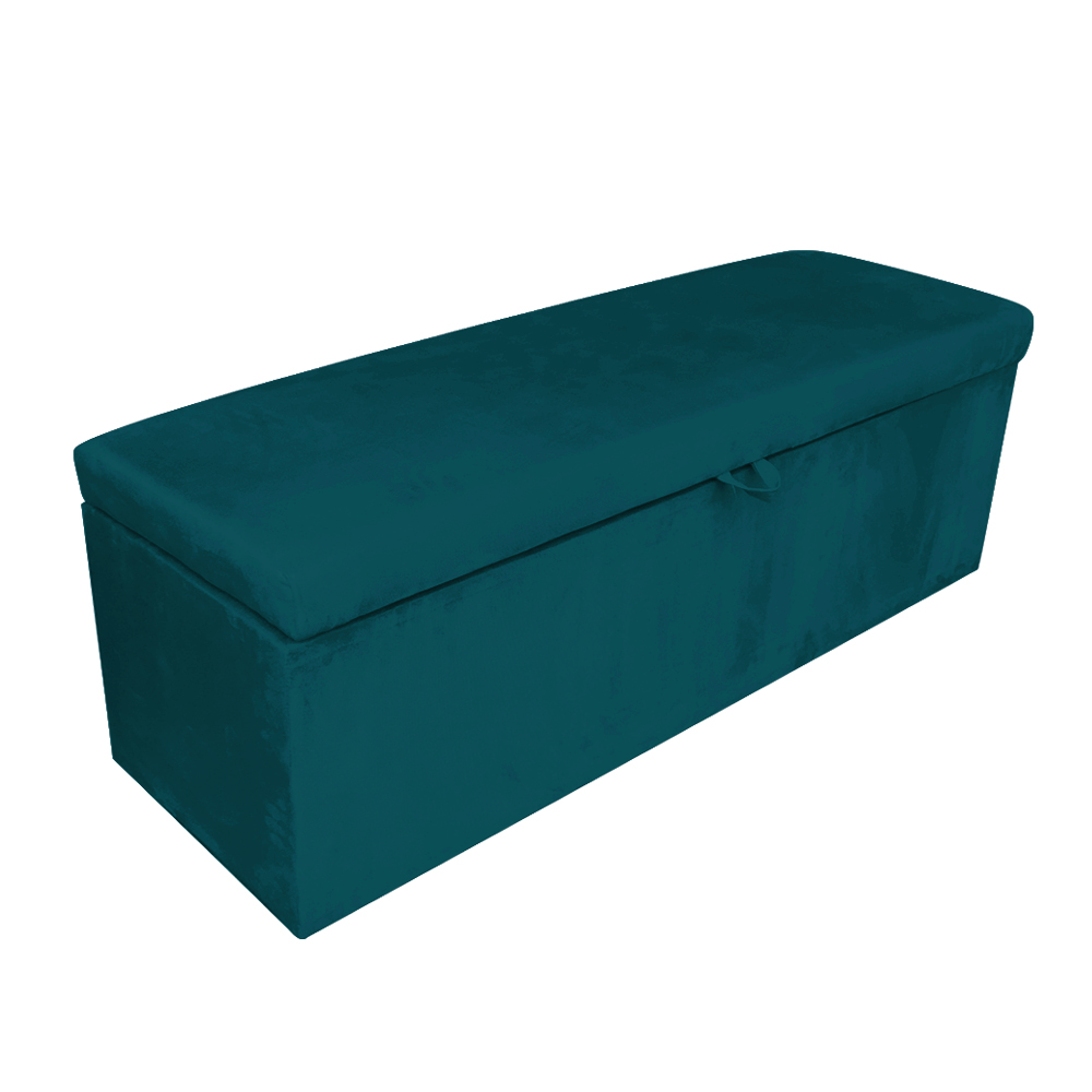 Calçadeira Clean 0,90 cm Suede Azul Pavão D'Rossi