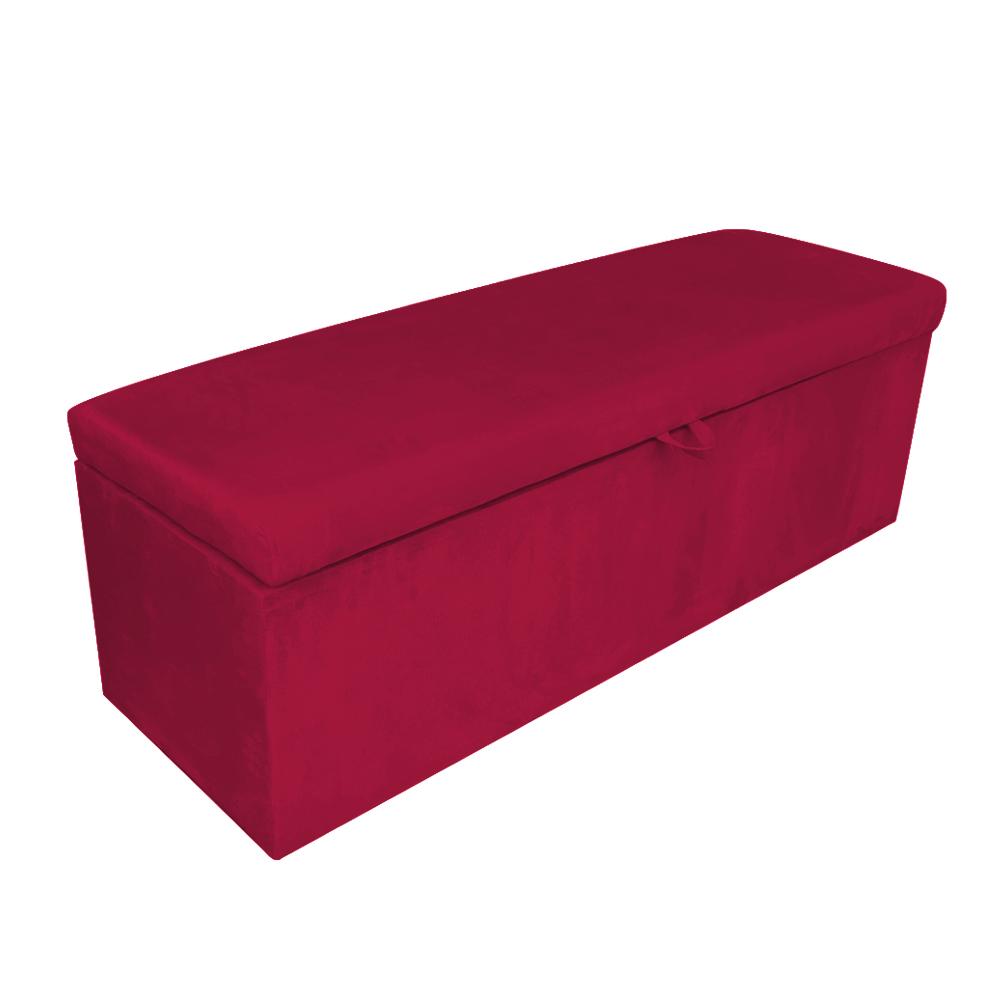 Calçadeira Clean 140 cm Suede Vermelho D'Rossi