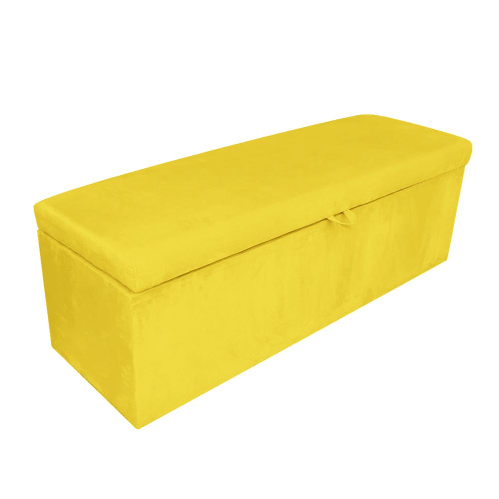 Calçadeira Clean 160 cm Suede Amarelo D'Rossi