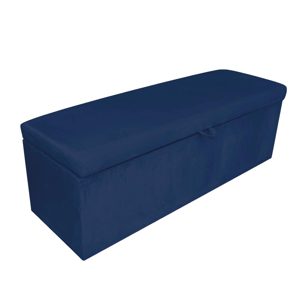 Calçadeira Clean 160 cm Suede Azul Marinho D'Rossi