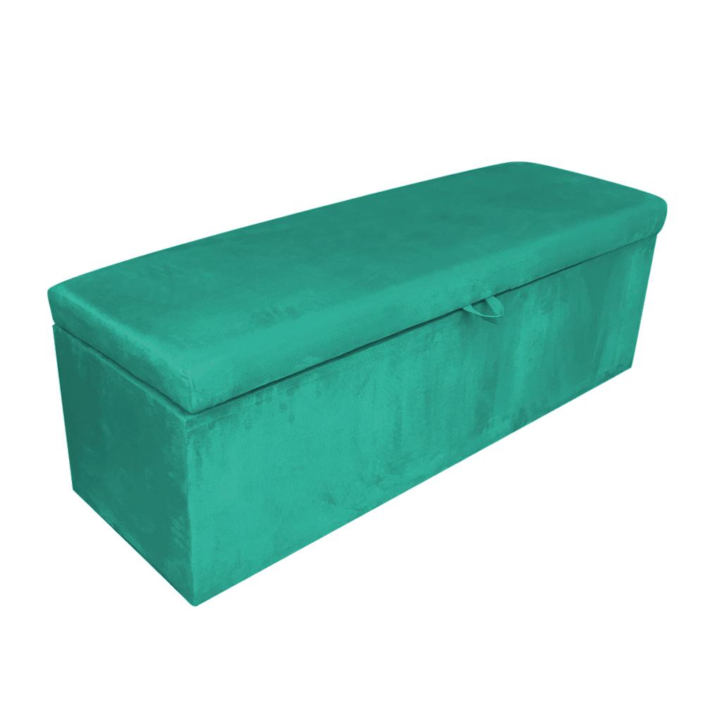 Calçadeira Clean 160 cm Suede Verde Turquesa D'Rossi