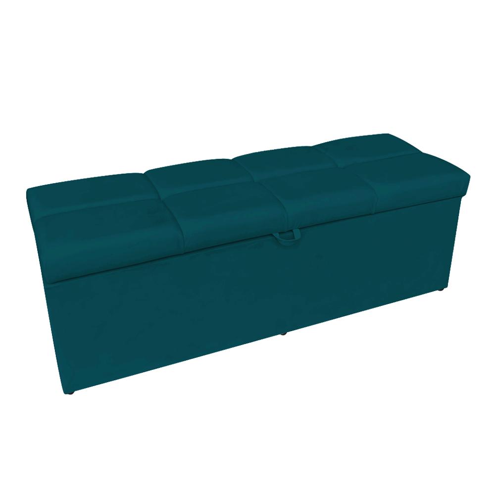 Calçadeira Nina 0,90 cm Suede Azul Pavão D'Rossi