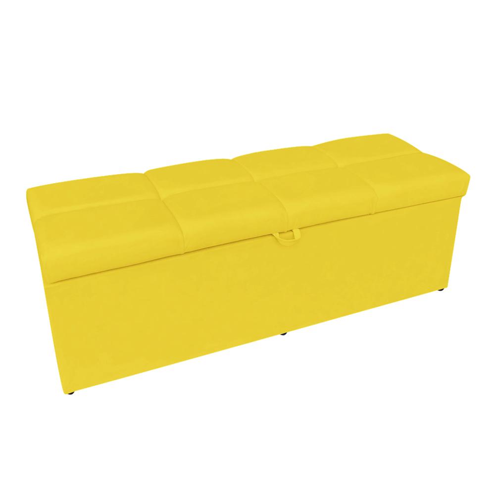Calçadeira Nina 100 cm Suede Amarelo D'Rossi