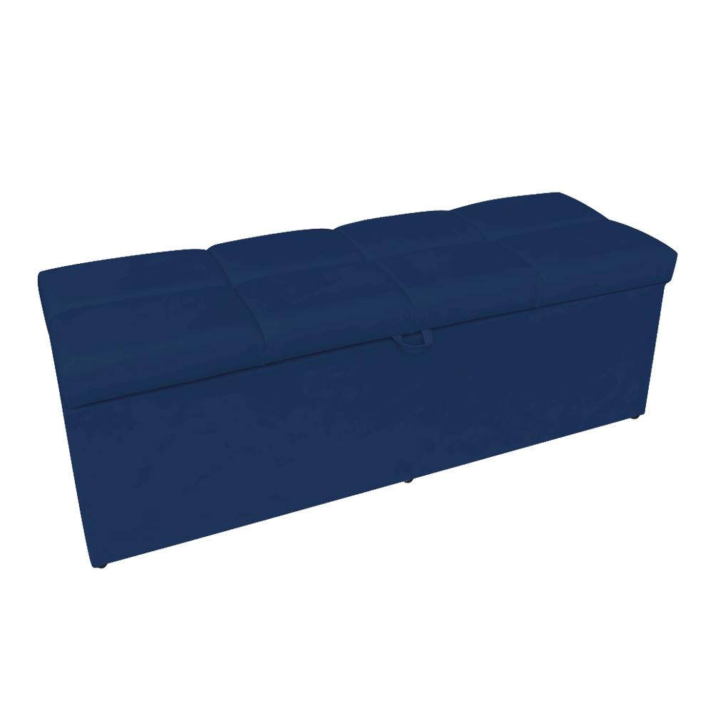 Calçadeira Nina 100 cm Suede Azul Marinho D'Rossi
