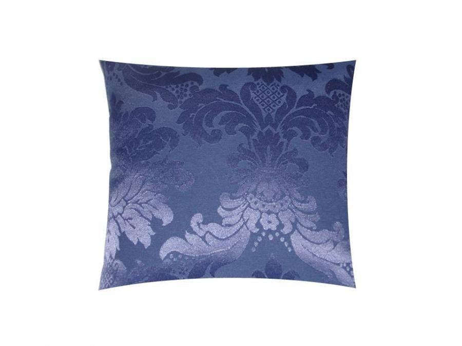 Capa para Almofada Tecido Jacquard Estampado Azul Marinho - Drossi