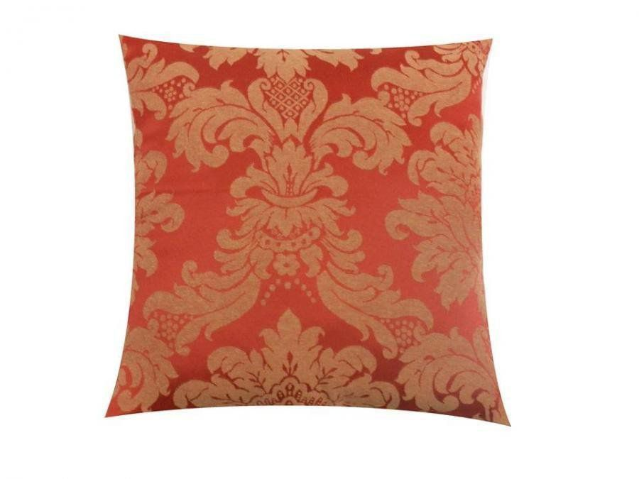 Capa para Almofada Tecido Jacquard Estampado Vermelho - Drossi
