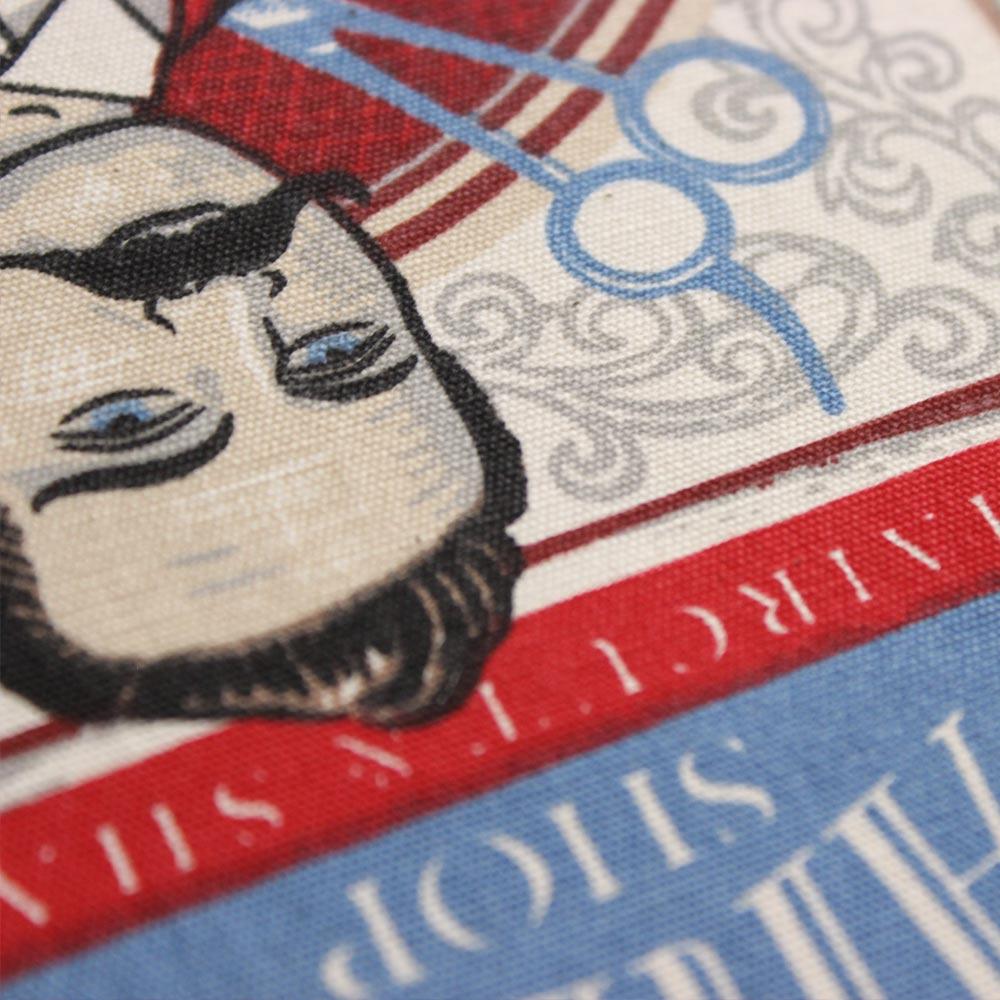Capa para Almofada Tecido Estampado Barbershop D30 - D'Rossi