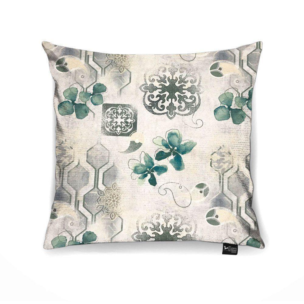 Capa para Almofada Tecido Estampado Floral D72 - D'Rossi