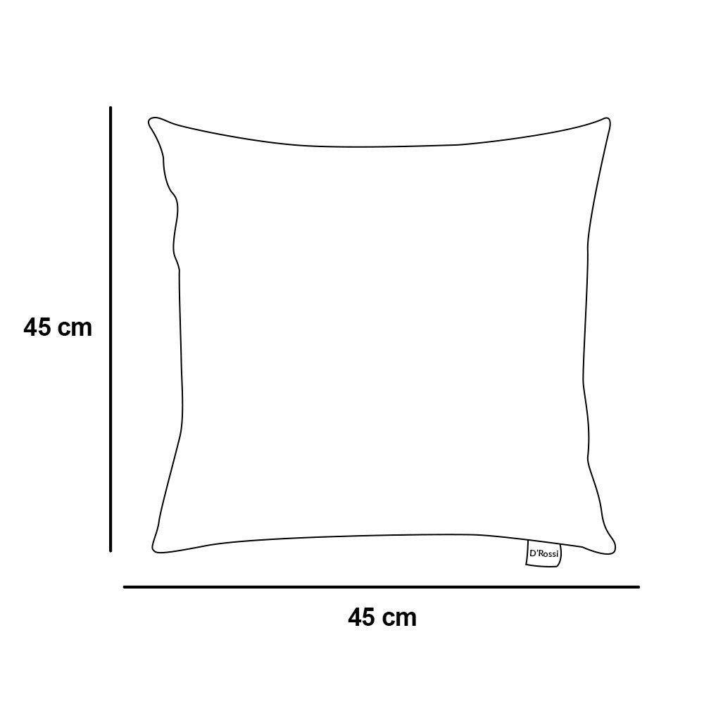 Capa para Almofada Tecido Estampado Quadrado Preto D64 - D'Rossi