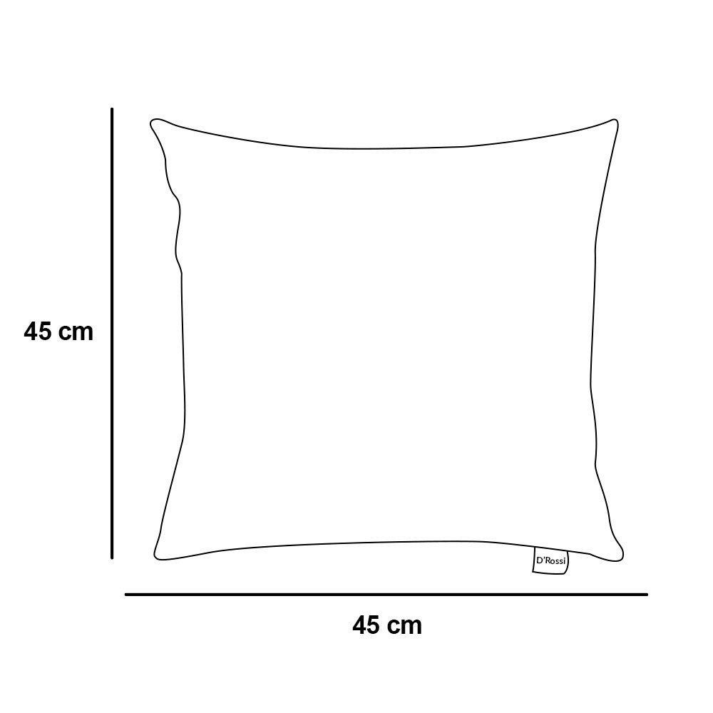 Capa para Almofada Tecido Estampado Traçado Azul Turquesa D33 - D'Rossi