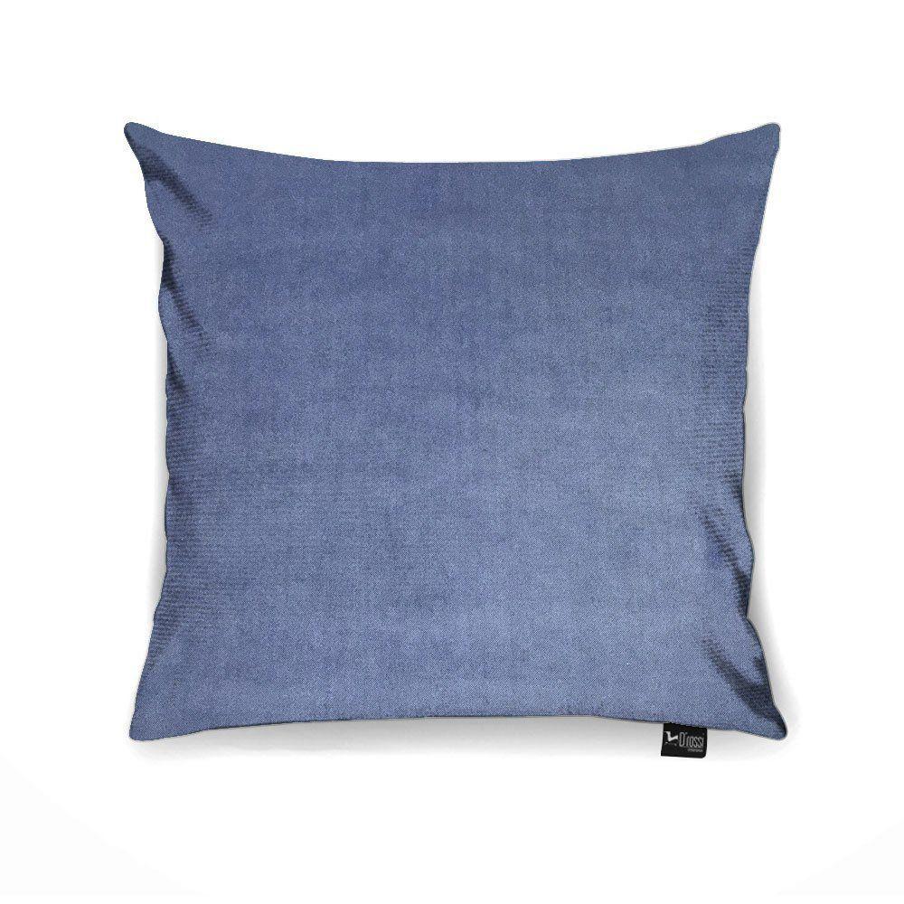 Capa para Almofada Tecido Suede Malha Azul A01 - D'rossi