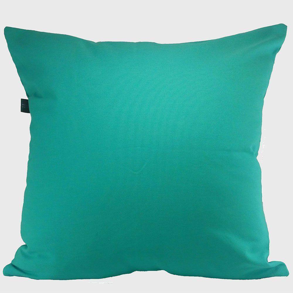 Capa para Almofada Tecido Suede Verde Turquesa 55x45 - Drossi
