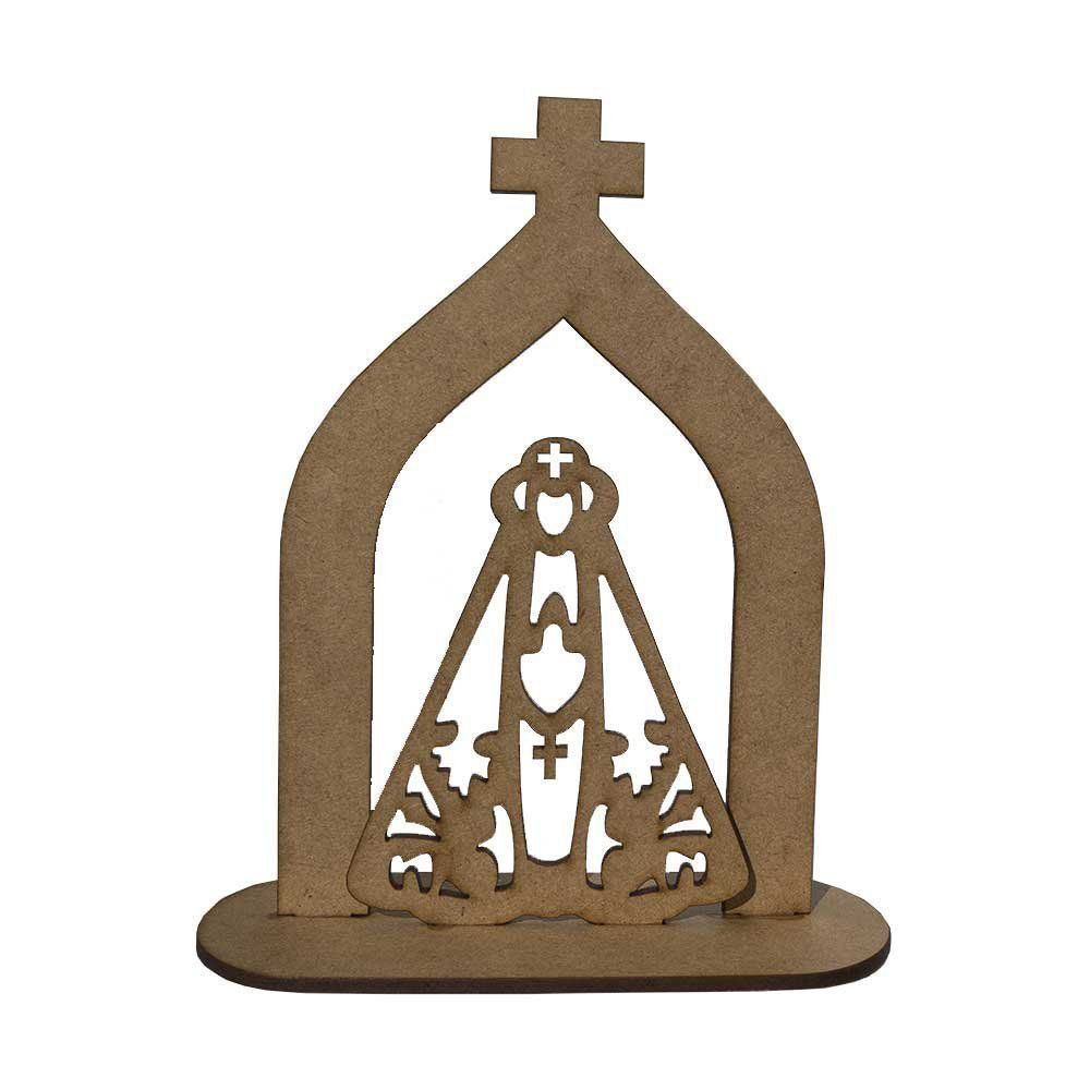 Capelinha Oratório Santa Nossa Senhora Aparecida MDF D'Rossi