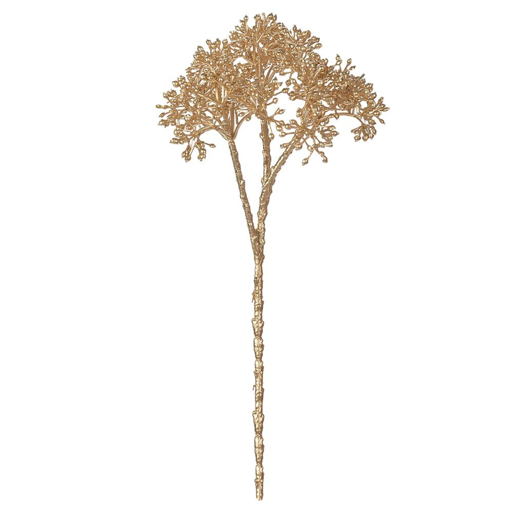 Folhagem Natalina Carinho De Mãe Dourado 20 cm D'Rossi