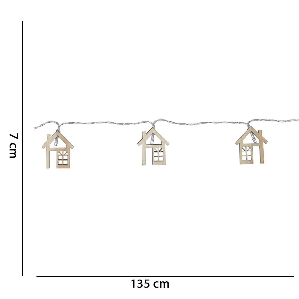 Casa Decorativa de Madeira com Luz 1,35x1,35 m D'Rossi