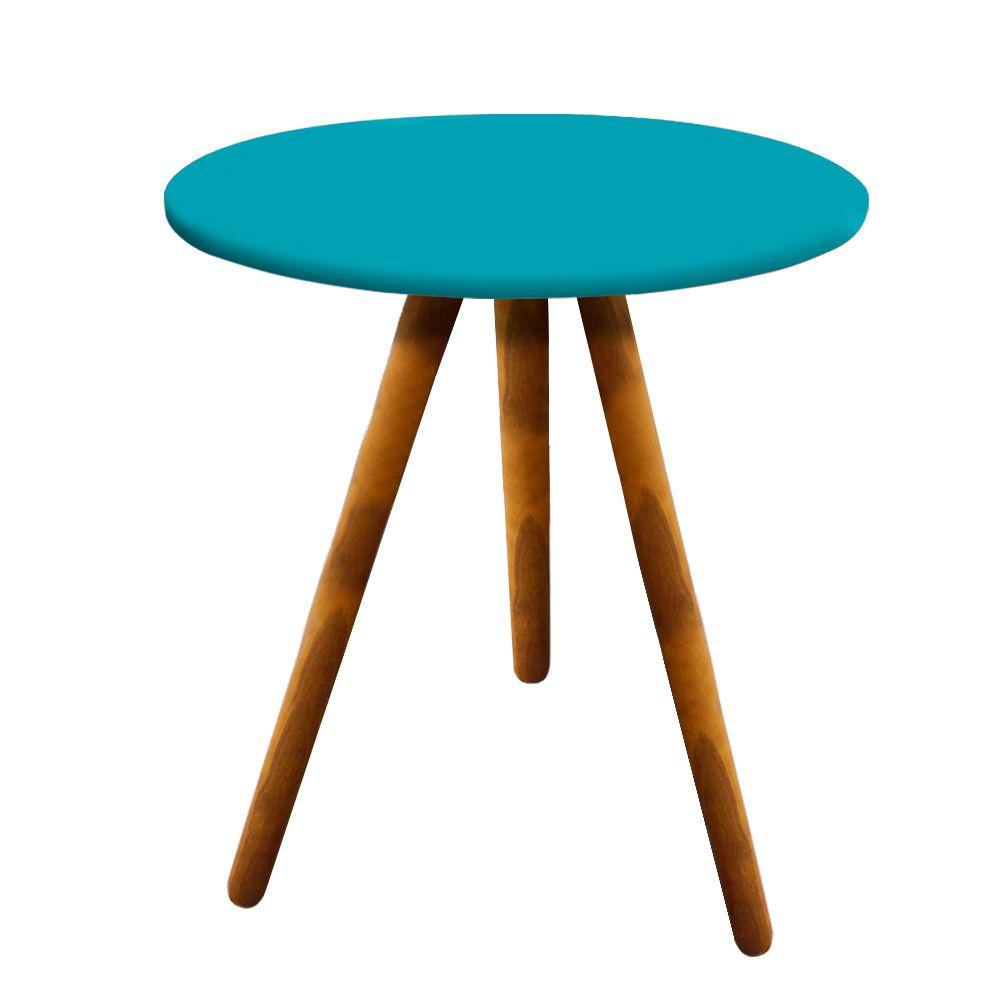 Conjunto Sala de Estar Mesa Lateral Mesa de Centro Azul - D'Rossi