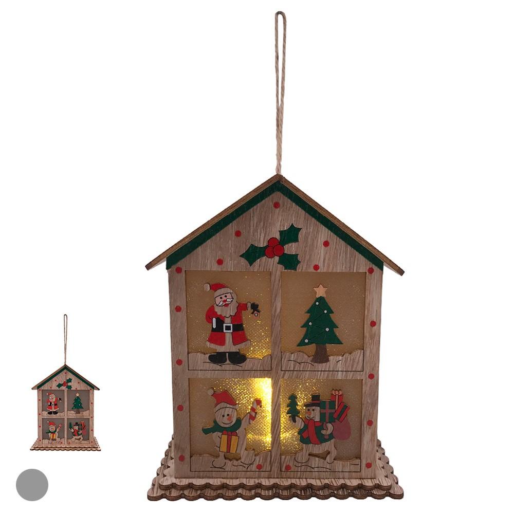 Enfeite Casa Natalina Com Led Colorido D'Rossi