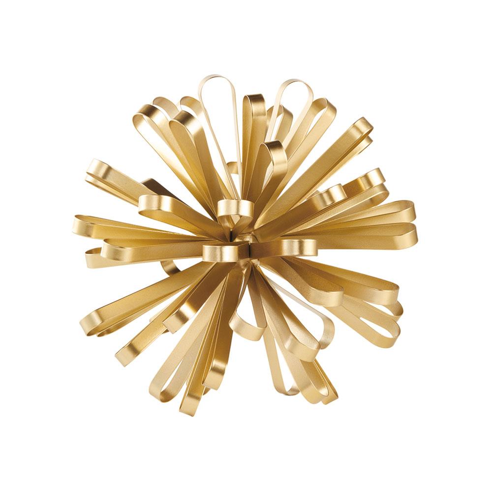 Enfeite Decorativo em Metal Dourado 24x24 cm - D'Rossi