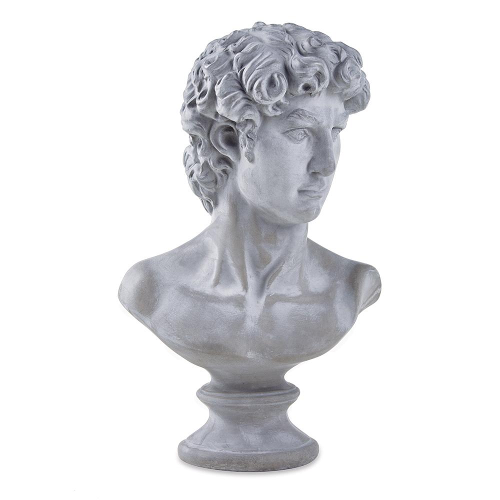 Escultura Decorativa Busto em Cimento 34x21 cm - D'Rossi