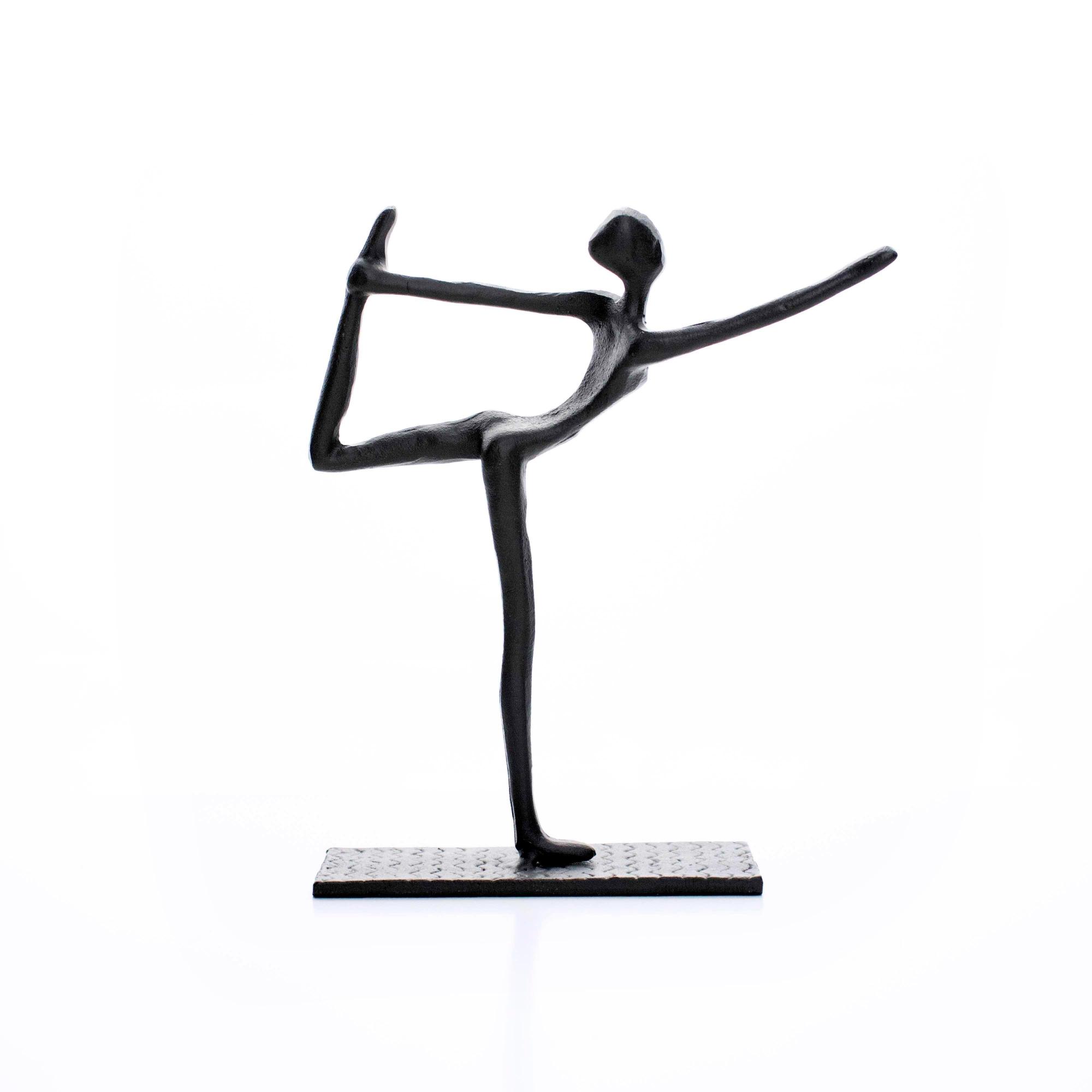 Escultura Decorativa em Metal Preto Equilíbrio 17x14 cm - D'Rossi