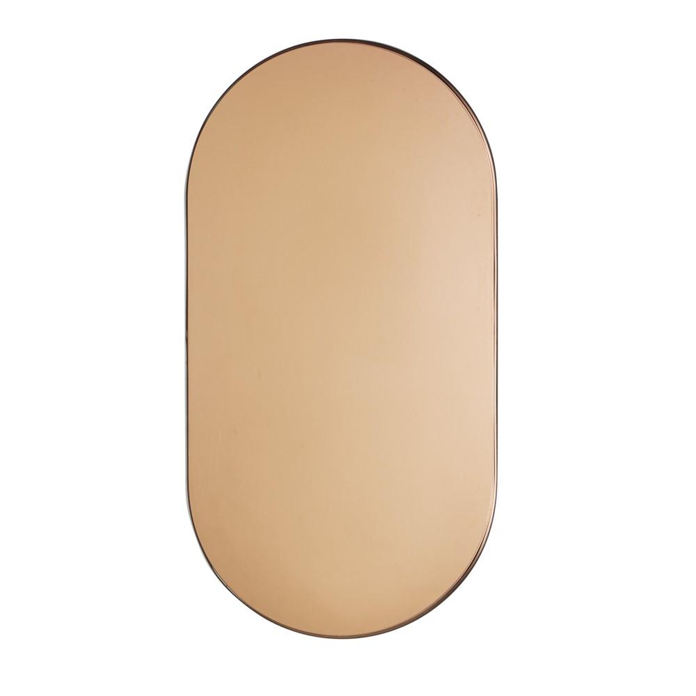 Espelho Elipse Cobre em Metal Preto 55x28,5 cm - D'Rossi