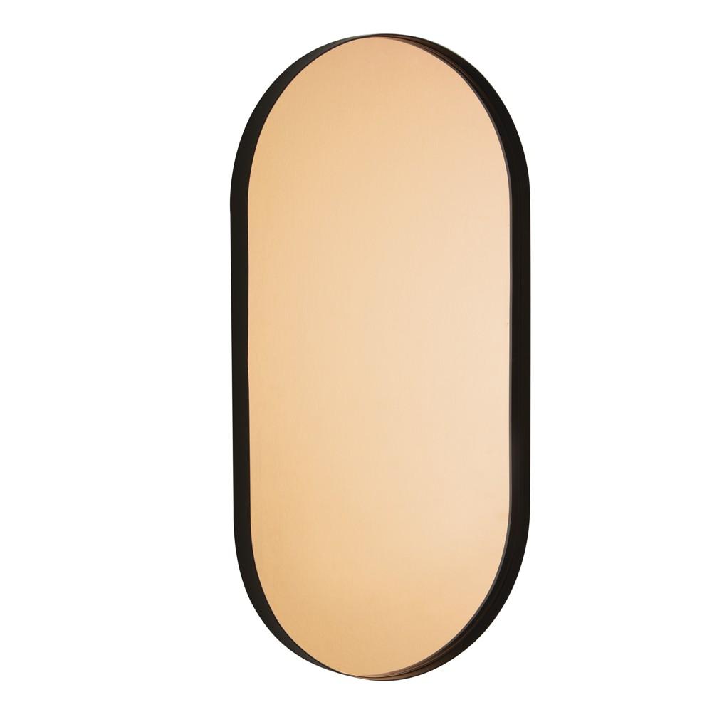 Espelho Cobre Em Metal Preto 70 x 36,5 x 3 cm D'Rossi