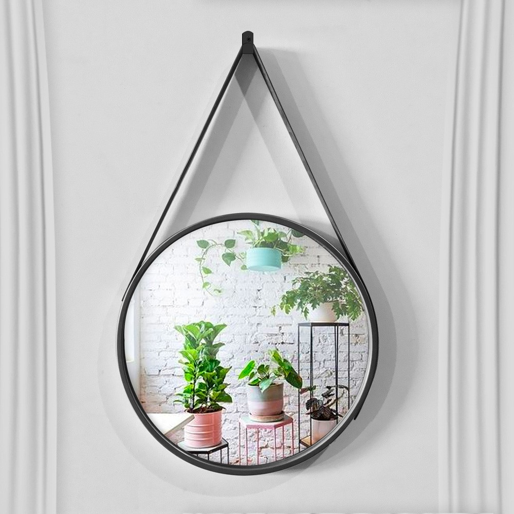 Espelho Decorativo Adnet Redondo Preto 45 cm D'Rossi