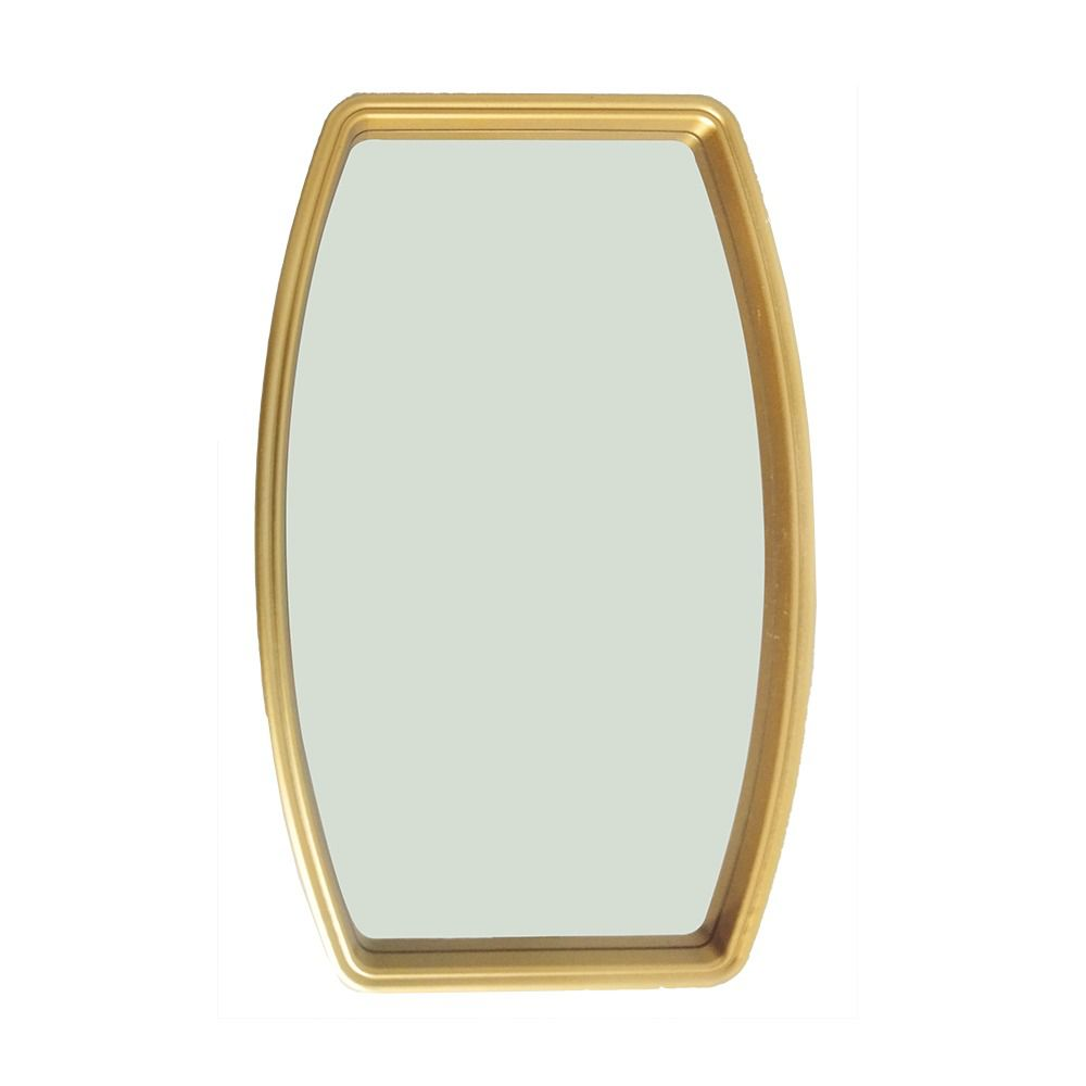 Espelho Decorativo com Moldura Dourada 20,5x38 cm - D'Rossi