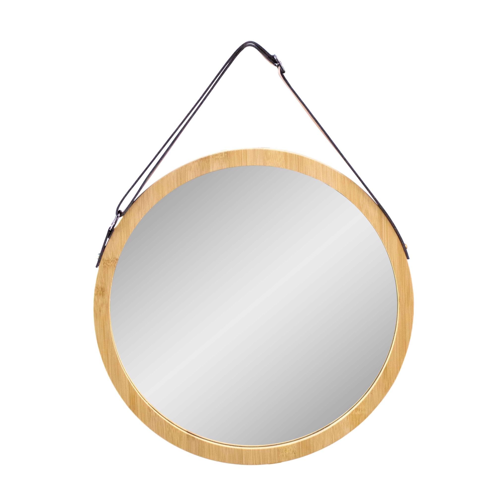 Espelho Decorativo com Moldura em Madeira 40 cm - D'Rossi