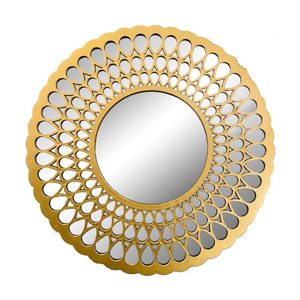 Espelho Decorativo Dourado Speculum 76X76X4,5CM - D'Rossi