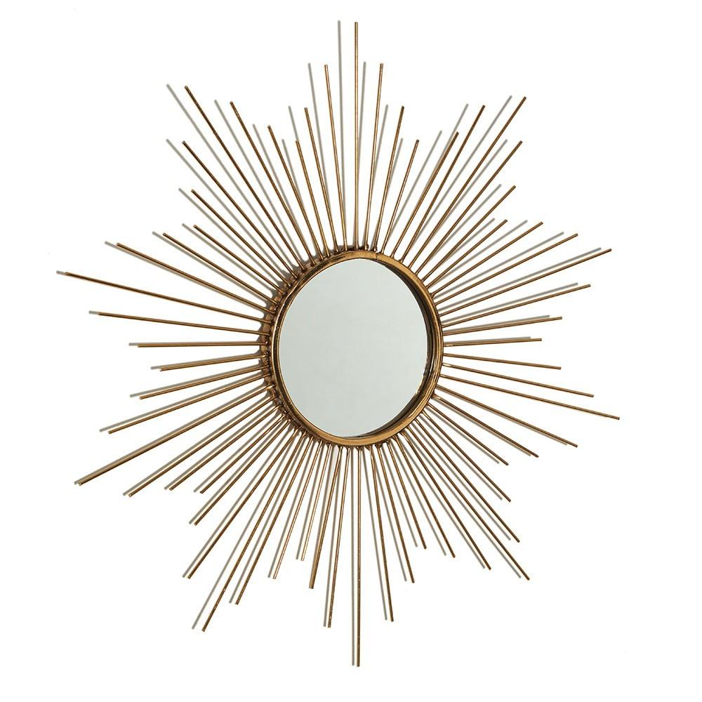 Espelho Dourado Em Metal  50 x 2cm D'Rossi