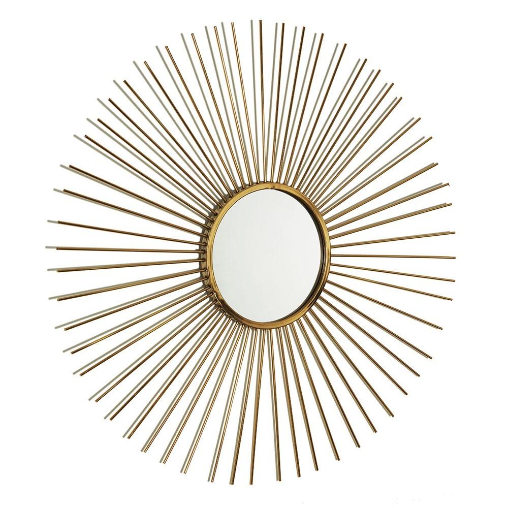 Espelho Dourado Em Metal D'Rossi