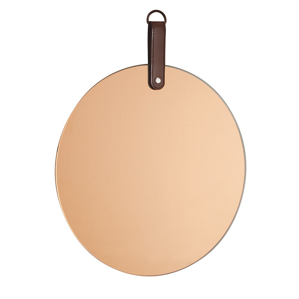 Espelho Redondo em Vidro Cobre 25x25 cm - D'Rossi