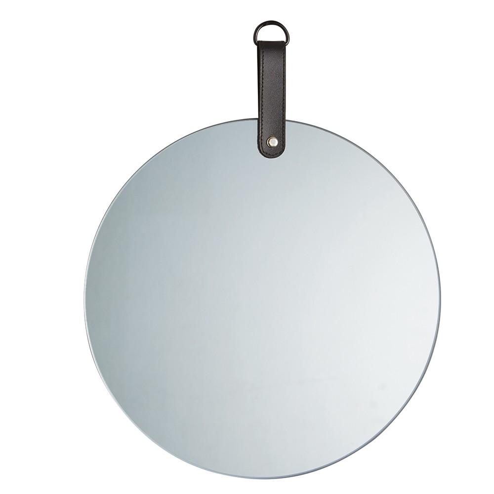 Espelho Em Vidro Fumê Redondo 25 x 30 x 1cm D'Rossi
