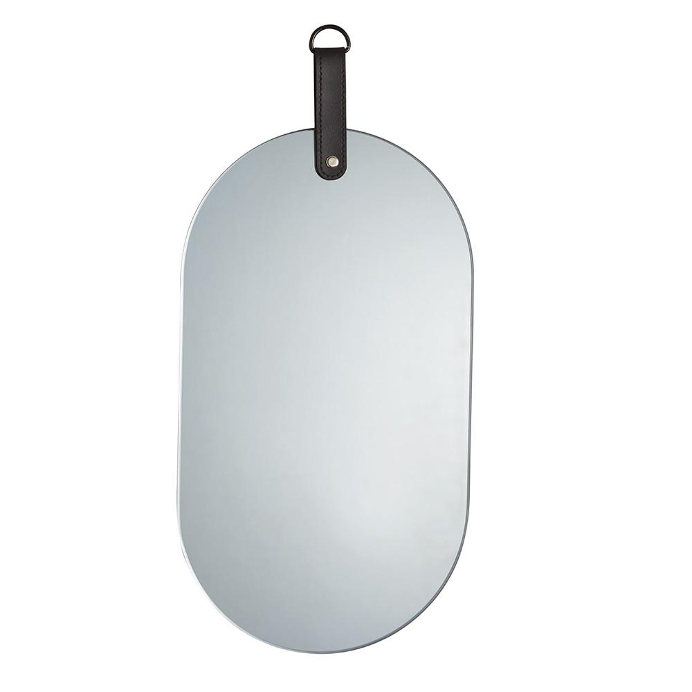 Espelho Em Vidro Fumê Oval 25 x 30 x 1cm D'Rossi