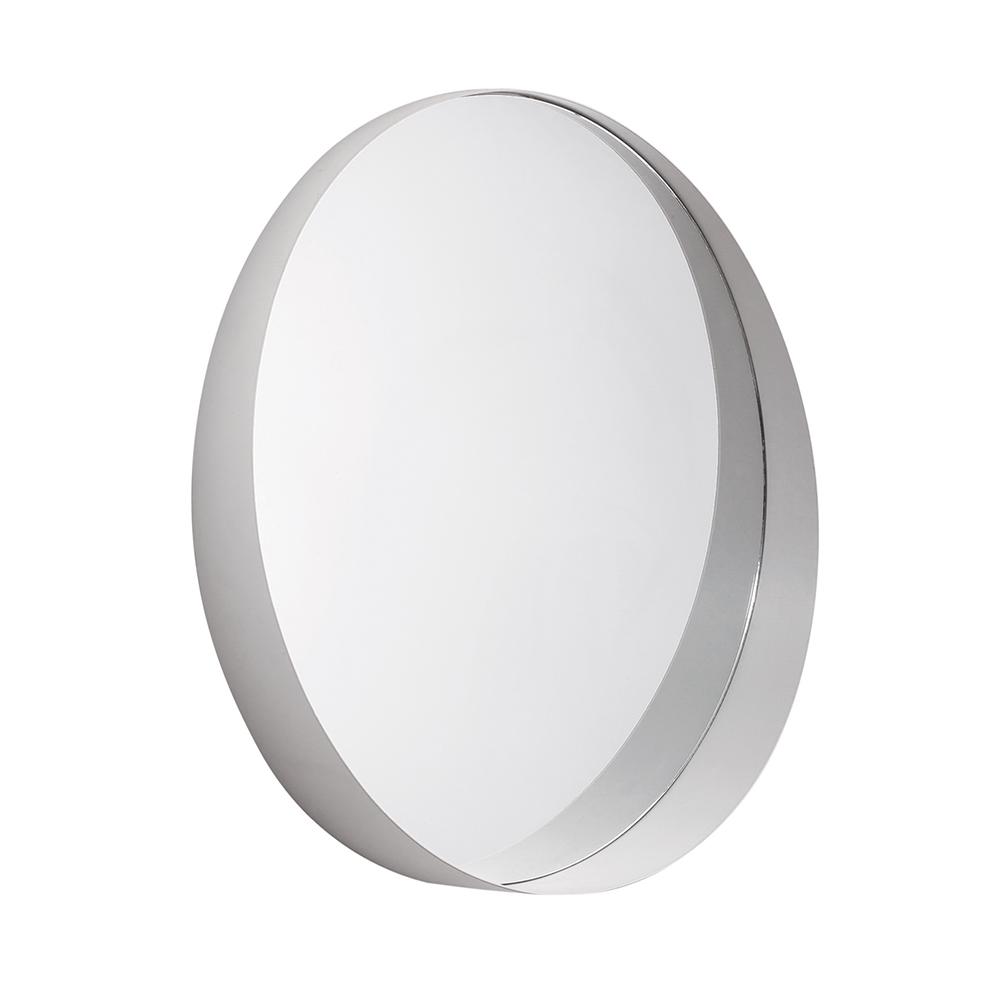 Espelho Redondo Em Metal Off White 50x50 CM - D'Rossi